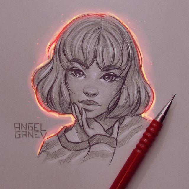 Сяючі ілюстрації олівцем - фото 282897