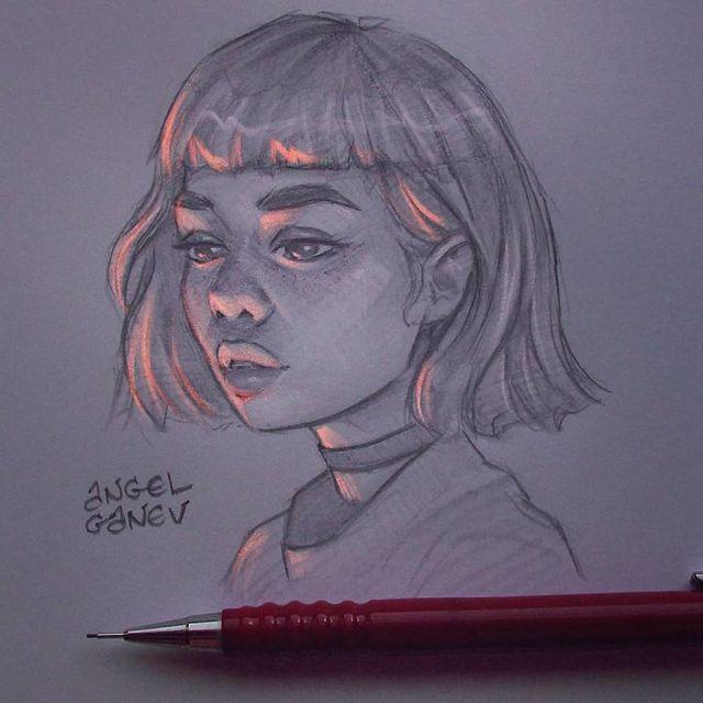 Сяючі ілюстрації олівцем - фото 282895