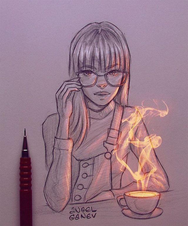 Сяючі ілюстрації олівцем - фото 282905