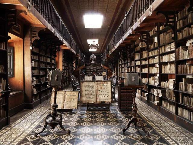 Library Of The Monastery Of San Francisco, Peru, South America - фото 278674
