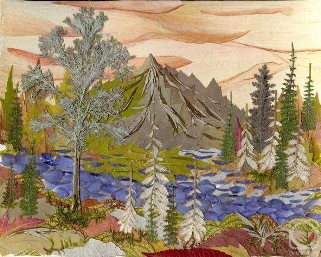 Художники створюють незвичайні картини із засушеного листя    - фото 279715