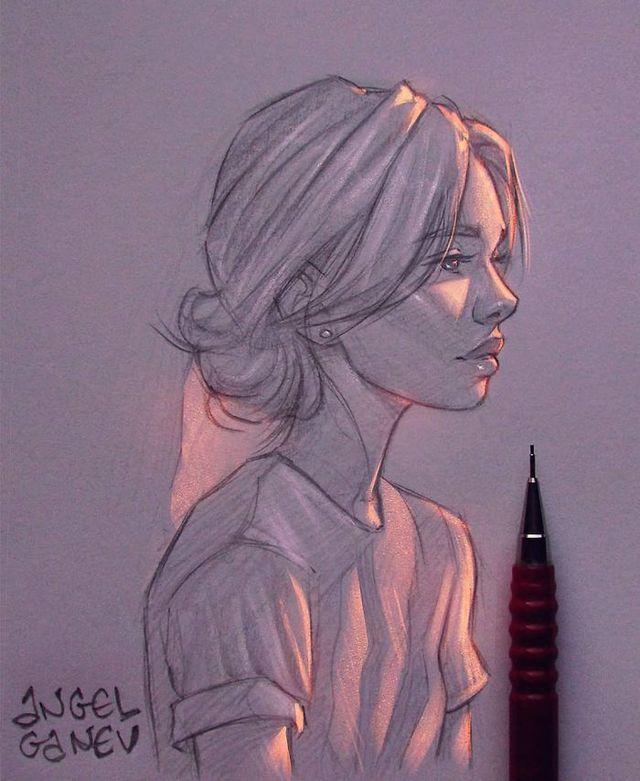 Сяючі ілюстрації олівцем - фото 282900