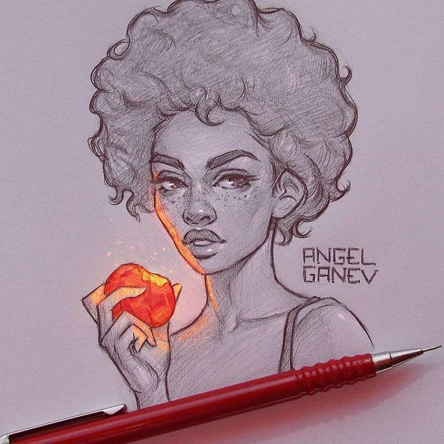Сяючі ілюстрації олівцем - фото 282906