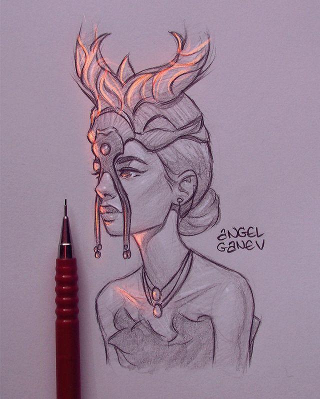 Сяючі ілюстрації олівцем - фото 282904